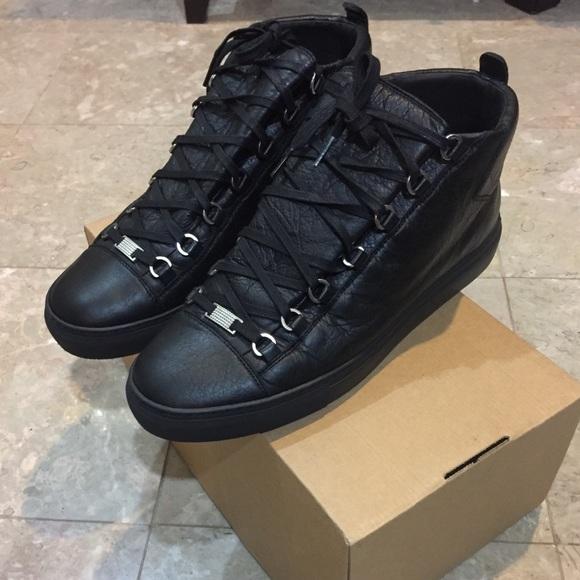 Balenciaga Men's Arena leather black High Sneaker